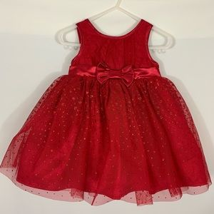 Cherokee Red Party Dress Size 12m